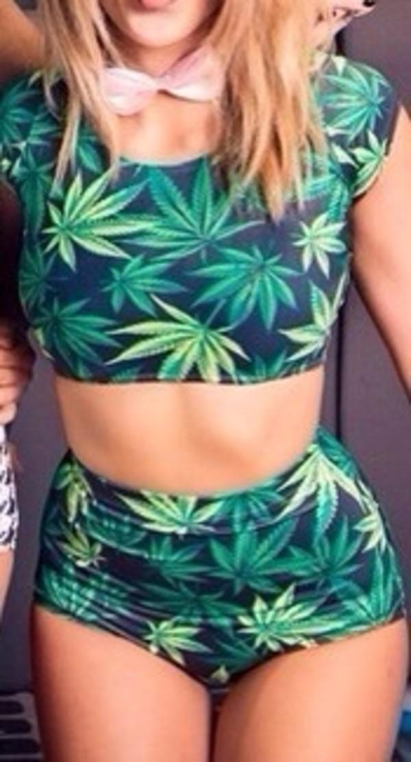 shorts marihuana top