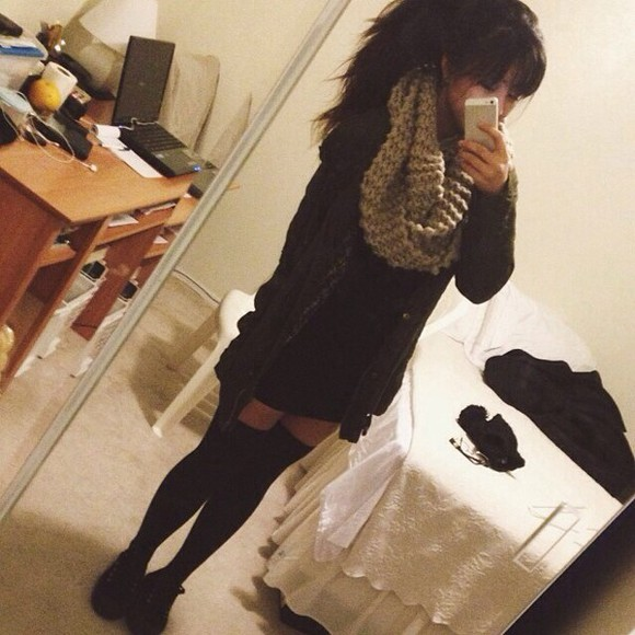 stockings leggings jacket grunge winter scarf fall