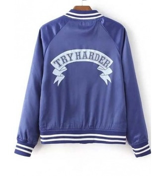 jacket girl girly girly wishlist bomber jacket blue white tumblr