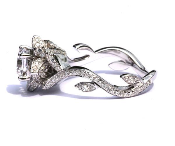 jewels diamonds ring rose
