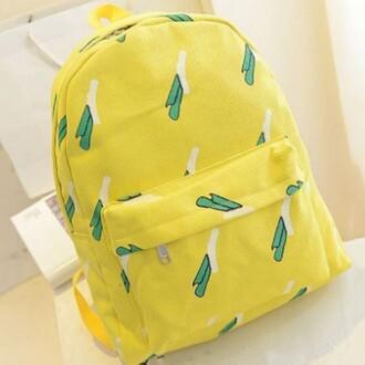 bag yellow fashion style trendy back to school backpack boogzel kawaii