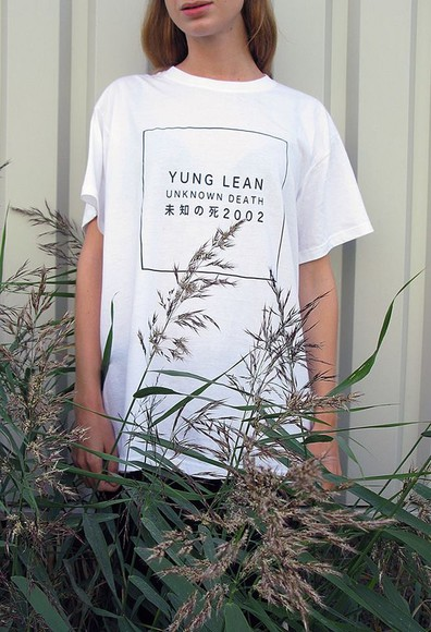 clothes chiffon t-shirt yung lean chinese words boho chic women's t-shirt, dope, swag, swag girl, white teen blogger tumblr t shirt with a quote quote shirt sad quote , quote top chinese symbols