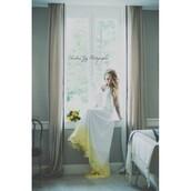 dress,designer bag,beautiful,wedding dress,dip dyed,unique shoes