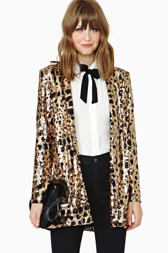 Nasty Gal Party Isn't Over Sequin Blazer in  What's New at Nasty Gal