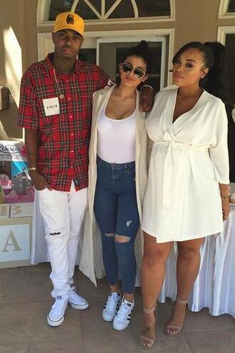 top jeans coat vest kylie jenner sneakers skinny jeans
