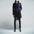 British Style Turn-down Collar Single Breasted Long Sleeves Irregular Woolen Coat For Men