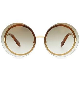 sunglasses round sunglasses gold