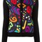 Boutique moschino multicolour shape motif cardigan, women's, size: 40, black, silk/virgin wool