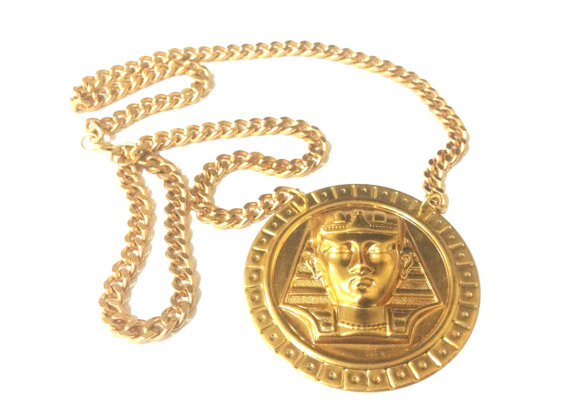Collier en or Pharaon / / Gold Chain / / Versace par ReadyToStare