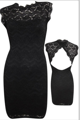 dress black vintage lace backless dress little black dress cocktail dress evening dress