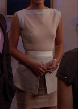 dress beige blair waldorf gossip girl