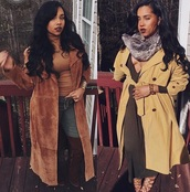 coat,trench coat,yellow trench coat,fall outfits