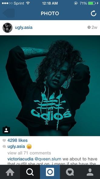 jacket cropped hoodie cropped adios hoodie