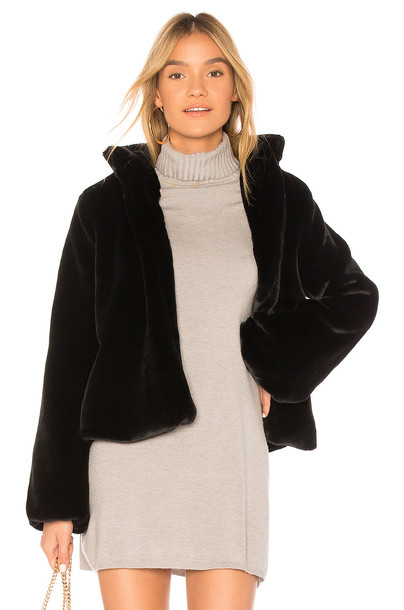 TULAROSA jacket faux fur jacket fur jacket fur faux fur black