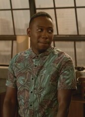 shirt,green,leaf print,winston bishop,lamorne morris