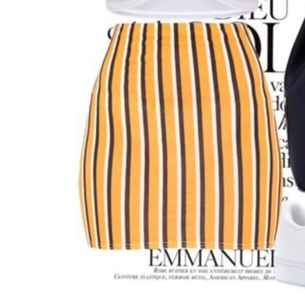 skirt yellow stripped