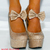 LADIES GLITTER WEDGES HIGH HEELS PLATFORMS ANKLE STRAPS WEDGES WEDGED SHOES SIZE | eBay