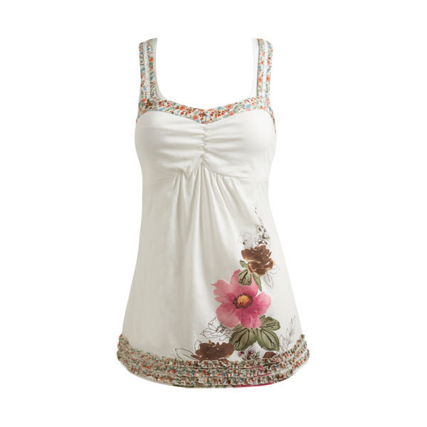 Layered Flower Tank - Teen Clothing by Wet Seal - Polyvore