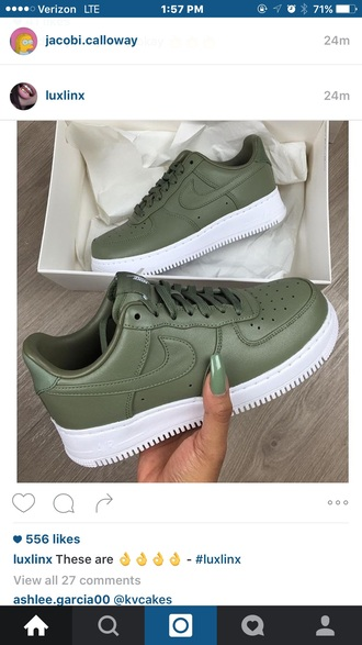 shoes nike green sneakers nike sneakers green shoes cool stylish dark green army green sportswear instagram snapchat fashion chic instachic