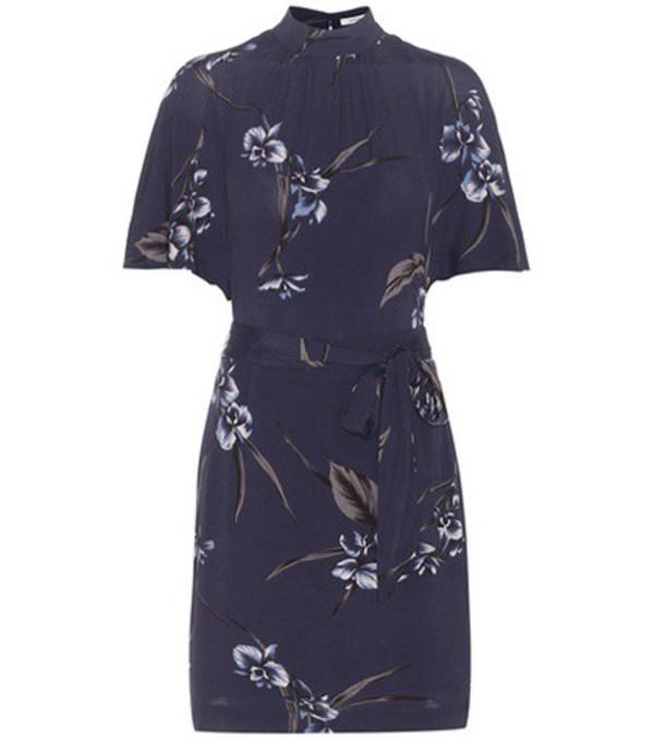 faec759df5e5c9 GANNI - Striped Silk Crepe De Chine Mini Dress - Claret - Wheretoget