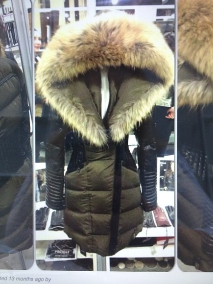 jacket hood fur outerwear jacket