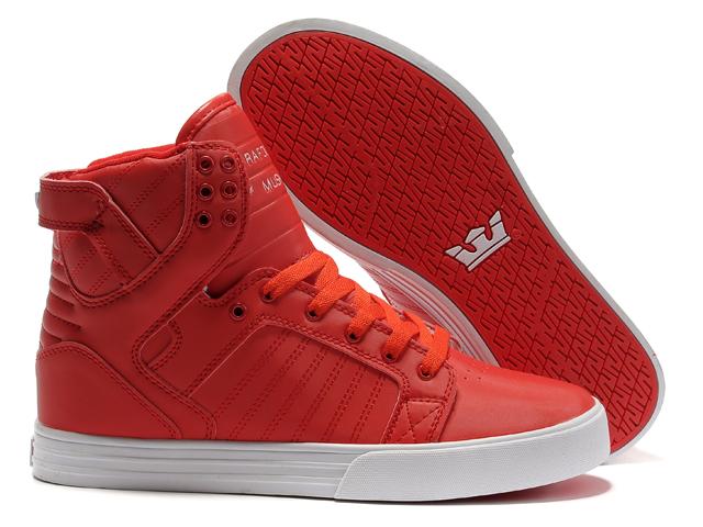 Supra Women Skytop All Red Shoes [SUPRA548] - $84.50 ...
