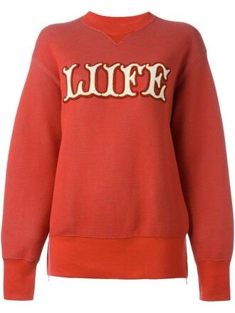 sweatshirt red sweater