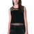 Tube Sheer Contrast Black Tank - J   CO