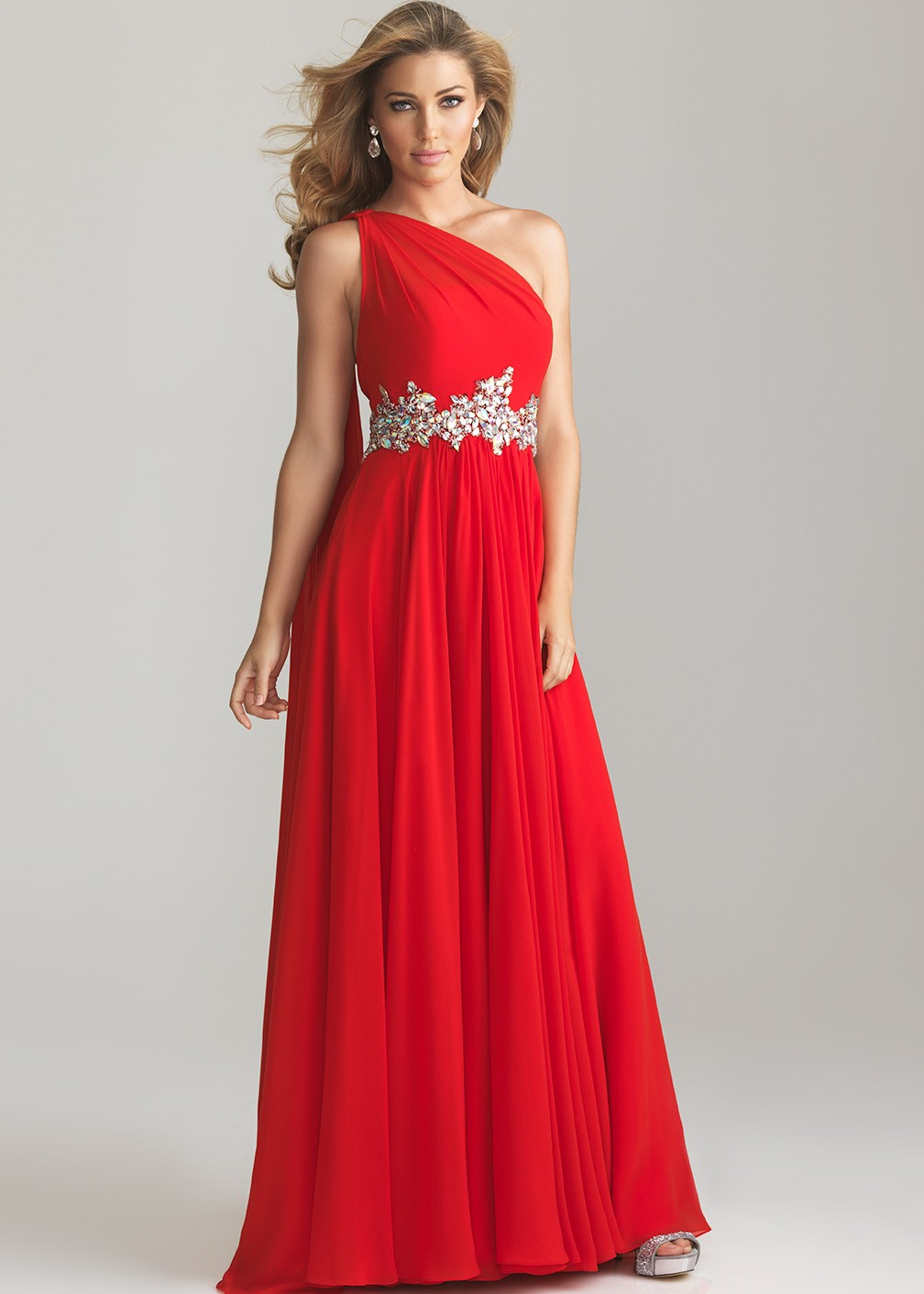 - Red One Shoulder Evening Gown  Prom Dresses 2013 - RissyRoos comRed One Shoulder Prom Dresses 2013