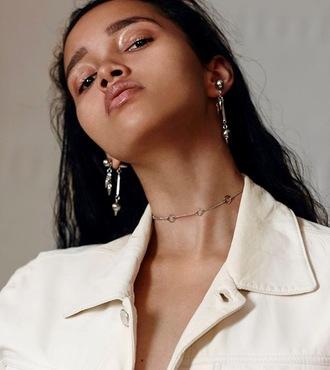 jewels earrings necklace choker necklace gold choker jewelry