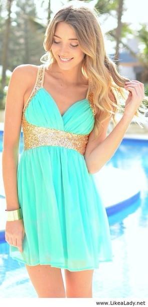 dress mint prom dress mint dress mint dress gold glitter short blue blue and gold dress gold & mint