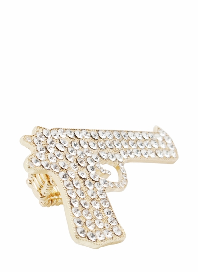 Embellished gun ring $14.10 in silverclr