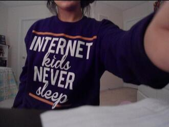black sweater internet shirt sweatshirt internet wifi