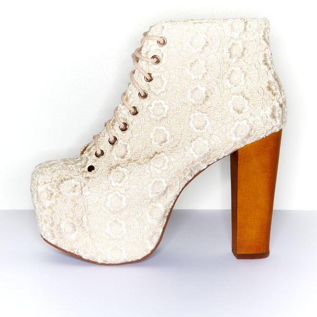 Cold feet by jeffrey campbell 'lita lace', ivory