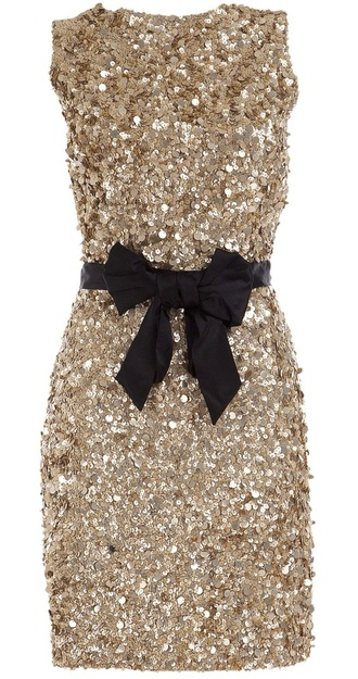 dress gold short dress bow black gold sequins gold dress new year's eve