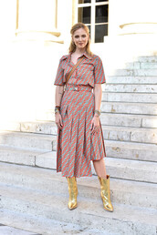 skirt,shirt,chiara ferragni,the blonde salad,fashion week,paris fashion week 2018,blogger,fendi