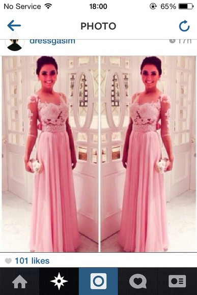 dress long promdress2014 blossom pink longpinkdress prom dress long prom dresses pink pink dress 2014 prom dresses