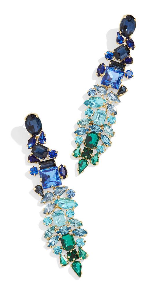 Stella + Ruby Stella + Ruby Crystal Drop Earrings in blue / gold