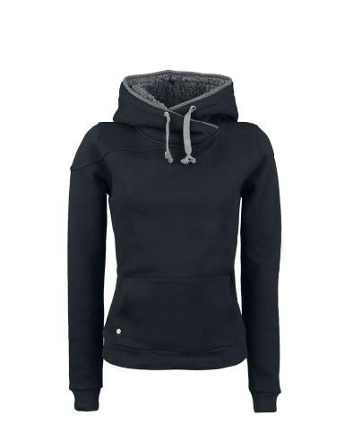 New Arrival Comfortable Pure Color Split Joint Slim Hoodie: BagsQ.com