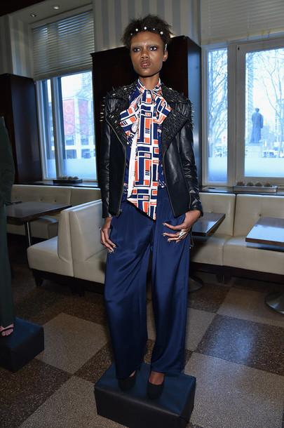 blouse jacket pants fashion week 2015 fashion