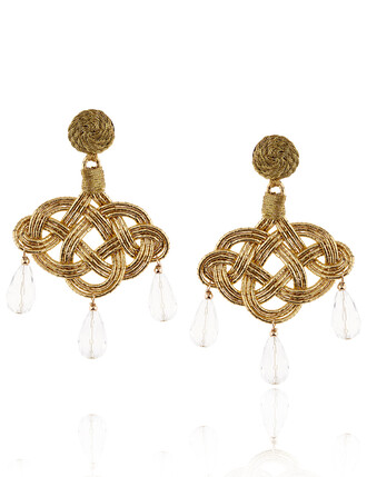 triple earrings gold