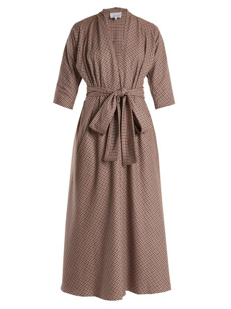 LUISA BECCARIA dress wool grey