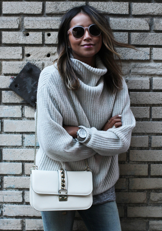 sweater knitwear turtleneck knit knitted sweater