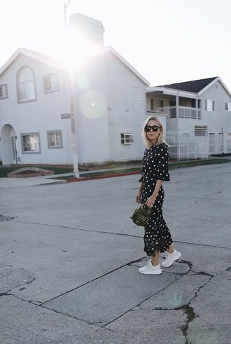 damsel in dior blogger sunglasses bag dress sneakers maxi dress cult gaia bag