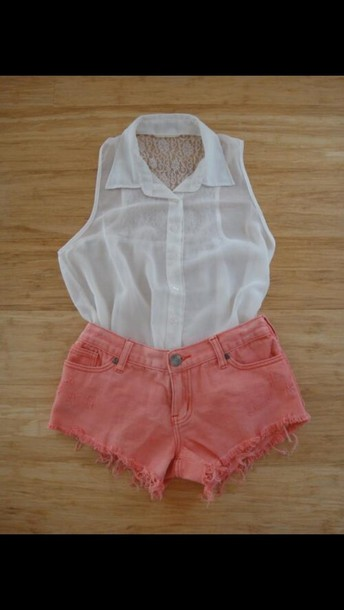 blouse white button up top