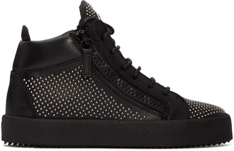 studded high london sneakers black shoes