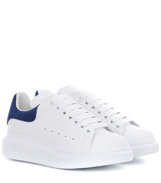 Alexander Mcqueen sneakers leather white shoes