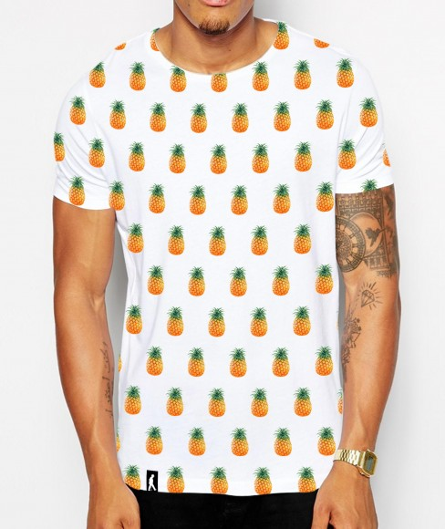 Distinkt youth pineapple dots all over crew neck tshirt
