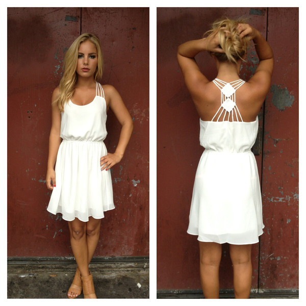 Double Diamond Chiffon Dress                           | Dainty Hooligan Boutique