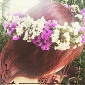 hair accessory,flower crown,statice,lavender,flower hair crown,bridal hair crown,bride hair crown,crown,wedding,natural,nature,boho,sea lavender,photoshoot,nature theme,floral hair crown,hair crown